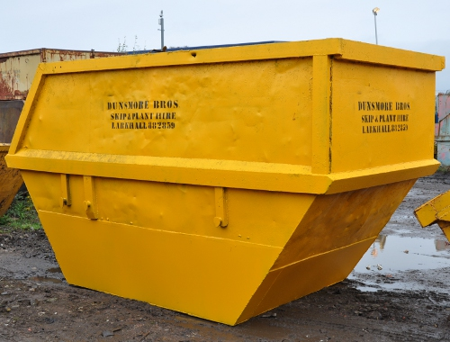 enclosed skip 14 cubic yard